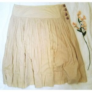 Banana Republic | Modest Button Pleated Skirt